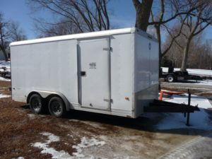 16′ x 8′ Hitch Mount Enclosed Cargo Trailer