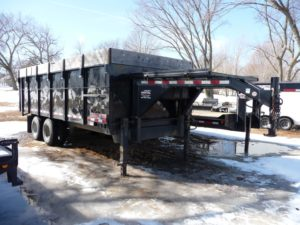 8 x 20 Midsota Gooseneck Dump Trailer23,000 Pound, 25 Yard Gooseneck Mount Dump Trailer