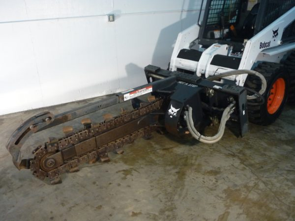 Trenching Depth: 48 inch Trenching Width: 7.5 inch Carbide tipped teeth for faster more aggressive digging. Weight: 955 lbs