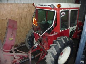 Tractor Loader With Snowblower