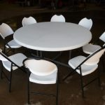 60 inch White Round Table